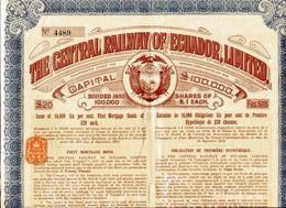 The CENTRAL RAILWAY Of ECUADOR, Limited; Obligation - Chemin De Fer & Tramway