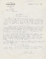Lettre Autographiée Du Professeur Albert DELAUNAY,  Adressée Au Colonel REMY - Autographes