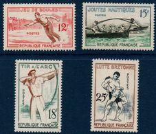 FR 1958    Jeux Traditionnels    N° YT 1161-1164  ** MNH - France