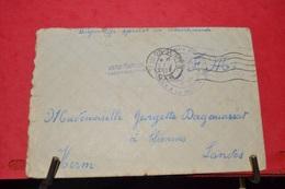 RARE LETTRE  F.M.  MARINE FRANCAISE  ; DU CONTRE TORPILLEUR LE CHEVALIER PAUL  CAD TOULON1938 . - Postmark Collection (Covers)