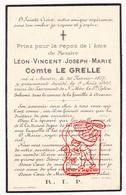 DP Adel Noblesse - Léon V. Le Grelle / De Burbure Van Wezembeek ° Antwerpen 1857 † 1909 Begr. Deurne - Devotion Images