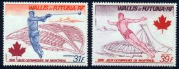 Wallis Et Futuna PA 1976 Yvert 72 / 73 ** TB Coin De Feuille - Poste Aérienne
