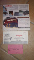 AMERICAN PRESIDENT LINES Ticket Envelope 1963 - Paquebot SS WILSON Economy Class Passenger Ticket - United States