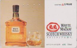 Télécarte Japon / 110-011 - ALCOOL - WHISKY WHITE & MACKAY ** SCOTLAND ** - ALCOHOL Japan Phonecard - ALKOHOL TK - 960 - Levensmiddelen