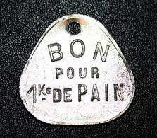 """Jeton De Nécessité """"Bon Pour 1kg De Pain - Meunerie Boulangerie De L'Hempempont"""" Villeneuve D'Ascq - Emergency Token - Monetary/Of Necessity"""