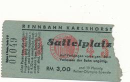 BERLIN - Ticket Entrée - Rennbahn Karlshorst, Hippodrome, Course De Chevaux - Tickets - Vouchers