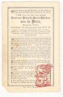 DP Adel Noblesse - Gravin Mathilde M. Van De Walle ° Brugge 1834 † 1916 - Devotion Images