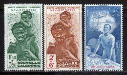 Wallis Et Futuna PA 1942 Yvert 1 / 3 * TB Charniere(s) - Poste Aérienne