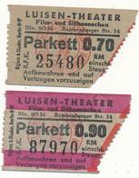 BERLIN - 2 Tickets Entrée - Luisen Theater - Film Und Bühnenschau - Tickets D'entrée
