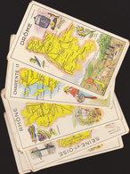 °°°°°   LOT DE 8  CHROMOS DEPARTEMENTS  PASTILLES SALMON     °°°°° /////  REF  FEV. 18  //// - Trade Cards
