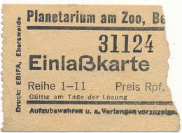 BERLIN - Ticket, Entrée - Planetarium Am Zoo - Tickets - Vouchers