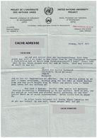 Lettre Dactylographiée Au Départ Penang Projet Université Entête Nations Unies - Old Paper