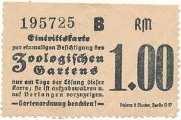 BERLIN - Ticket, Entrée - Zoologischen Gartens - Tickets - Vouchers