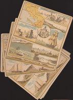 °°°°°   LOT DE 12  CHROMOS DEPARTEMENTS  A LA GRANDE MAISON PARIS ET LYON     °°°°° /////  REF  FEV. 18  //// - Trade Cards