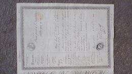33- SAINT QUENTIN-LIBOURNE-SAINTE FOY-GIRONDE- RARE PASSEPORT A L' INTERIEUR- JEAN FOURNAUD TAILLEUR D' HABIT-1840 - Documents Historiques