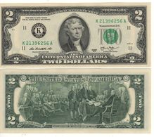 USA   $2 Bill  (dated 2013)  Latest Date Of Issue , P538   UNC - Federal Reserve Notes (1928-...)