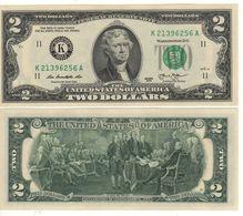 USA   $2 Bill  (dated 2013)  Latest Date Of Issue , P538   UNC - Billetes De La Reserva Federal (1928-...)