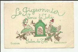 """06 . VENCE LA JOLIE . SALON DE THE """" LE PIGEONNIER .""""  . PLACE DU PEYRA  . GLACE ET RESTAURANT - Vence"""