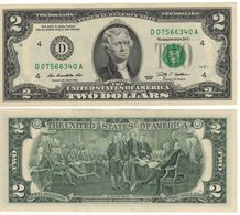 USA   $2 Bill  (dated 2009)  Latest Date Of Issue , P530A  Letter  D UNC - Federal Reserve Notes (1928-...)