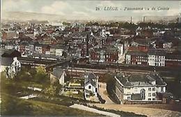 LIEGE - Panorama Vu De Cointe (couleur) - Luik