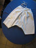 179 – Culotte Ancienne Ouverte En Tissu Moletonné Brodée En Bordure - Moda & Accesorios