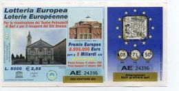 Lotteria Europea , Loterie Européenne - Estrazione 16 / 17 Ottobre 1999 - Lottery Tickets