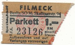 BERLIN - Ticket, Entrée - Filmeck, Cinéma - Tickets - Vouchers