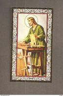 S. GIUSEPPE -  F.lli Bonella - SANTINO CORNICE ORO CON PREGHIERA A S. GIUSEPPE  PER TROVARE LAVORO - Devotion Images
