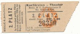 BERLIN - Ticket, Entrée - Kurfürsten Theater - Tickets - Vouchers