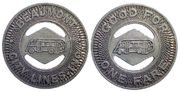 04019 GETTONE TOKEN JETON FICHA TRASPORTO TRANSPORT  TEXAS BEAUMONT CITY LINES INC. 1947 - Stati Uniti