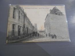 D . 62 - SAINT VENANT Rue De Paris Et L'église Guerre 1914 - 1918 - Autres Communes