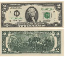USA   $2 Bill  (dated 2003)  Latest Date Of Issue , P516a  Letter  I     UNC - Federal Reserve Notes (1928-...)