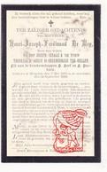 DP Adel Noblesse - Henri Joseph F. De Mey / D' Aussy De Breemeersch Ter Hellen ° Hooglede 1828 † 1902 - Devotion Images