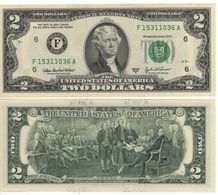 USA   $2 Bill  (dated 2003A)  Latest Date Of Issue , P516b  Letter  F     UNC - Federal Reserve Notes (1928-...)