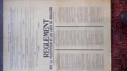 BELGIQUE- RARE AFFICHE GUERRE 1939-1945- VILLE DE MONS-1941-E. STRACK-M. DEGROOT-REGLEMENT PROSTITUTION LIEUX DEBAUCHE - Posters