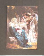 MARIA REGINA DEGLI ANGELI -  SANTINO  CON PREGHIERA - Devotion Images