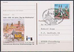 BRD Ganzsache 1996 PSo 41  Intern. Münchner Briefmarkentage   Gestempelt SST. ( D 5811 Günstige Versandkosten) - BRD