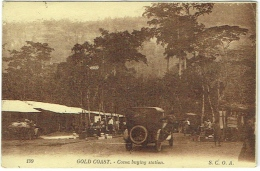 Ghana. Gold Coast. Cocoa Buying Station. Old Car. - Ghana - Gold Coast
