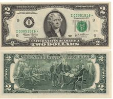 USA   $2 Bill  (dated 2003)  *REPLACEMENT Serie* , P516a  Letter  I     UNC - Federal Reserve Notes (1928-...)