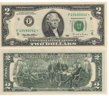 USA   $2 Bill  (dated 1995)  *REPLACEMENT Serie* ,   P496a  Letter  F     UNC - Federal Reserve Notes (1928-...)