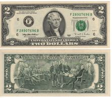 USA   $2 Bill  (dated 1995)  ,   P496a  Letter  F     UNC - Federal Reserve Notes (1928-...)