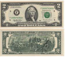 USA   $2 Bill  (dated 1995)  ,   P496a  Letter  F     UNC - Billetes De La Reserva Federal (1928-...)