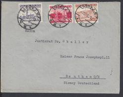 POLOGNE - 1937-40 - Affranchissement Tricolore Timbre Polonais Sur Enveloppe De Strys (UK) Vers Beuthen (Bytom) B/TB - - 1919-1939 Republic