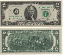 USA   $2 Bill  (dated 1976)  ,   P461    Letter  B     UNC - Federal Reserve Notes (1928-...)