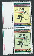 Italia, Italy, Italien 1979; Campionati Mondiali Di Ciclocross. Serie Completa Di Bordo. Nuovi. - Cycling