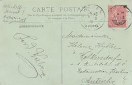 FRANCE - CP LE TRPORT PANORAMA - 16.8.1906  POUR WOLKERSDORF AUTRICHE /3 - France