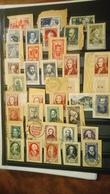 D389 LOT FRANCE PERSONNAGES CÉLÈBRES SUR FRAGMENTS COTE 189.60€  DÉPART 10€ - Stamps