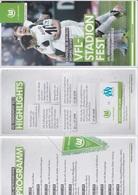2013 Football Programme VFL WOLFSBURG - Olympique De Marseille - Programs