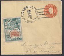 ETATS-UNIS - Entier Postal 6 Cents De Los Angeles - Cachet 18 Août 1932 - Belle Vignette National Philatélic Exhibition. - Entiers Postaux
