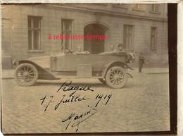 PRAGUE-17 Juillet 1919- Voiture Militaire-photo Amateur Ancienne Albuminée - Guerre, Militaire